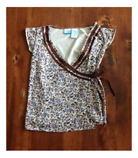 Announcements Maternity Small Wrap Around  Top Size S 4/6 Brown