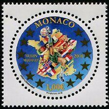 UEFA Soccer 2016 mnh stamp Monaco round stamp