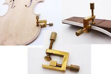 2pcs Repair Violin Cracks Broken Violin Clamps Glue Guitar Making Tool Brass