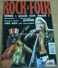 ROCK ET FOLK Nº316 GUNS N ROSES Cover+7 Pg 1993 WILLY DE VILLE LINK WRAY QUEEN