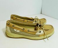 Sperry Top-Sider Women's Tan Angelfish Leather Slip On Boat Shoes Size 8 M