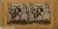 1880s Japanese Broom Seller Real Photograph Stereoview