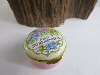 CRUMMLES A Day To Remember English England Enamel Trinket Box Floral Flower RP11