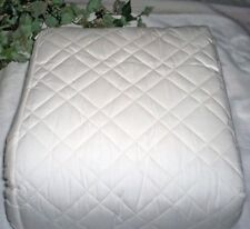 New Waverly 100% Cotton Catalina Diamond Quilting Bedspread Queen Solid Ivory