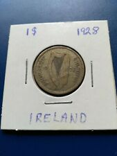 1928 Ireland One Shilling Silver Coin, No Reserve!