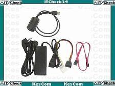 """USB Adapter auf IDE/S-ATA für 6,4cm u. 8,9cm 2,5"""" und 3,5"""" Festplatten  #22100"""