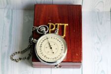 SLAVA With Wooden BOX USSR Vintage Big Mechanical Split Chronometer Stopwatch