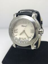 Chopard Happy II Sport 36mm Stainless Steel Diamond Ladies Watch 27/8475-3002