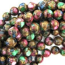 """8mm Natural Emerald Ruby Sapphire in Quartz Round Loose Beads Strand 15""""AAA"""