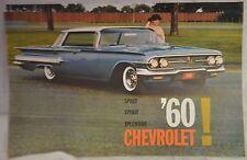 1960 CHEVROLET Sales Brochure 8 Pages IMPALA Biscayne BEL AIR