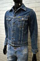 Giacca Jeans Uomo MELTIN POT Taglia S Giubbotto Giubbino Jacket Man Blu Casual