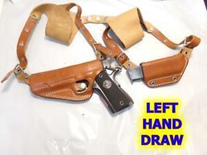 LEFT Old ALESSI Bodyguard Shoulder Gun Holster for COLT Govt 1911 45 SPRINGFIELD