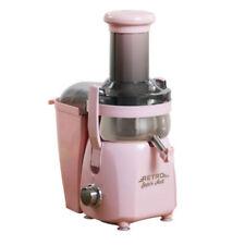 Retro Super Fast Centrifugal Juicer Pink + Free Juice Diet Book (Refurbished)