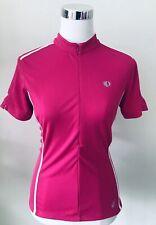 Pearl Izumi Women Sz L Zip Front Long Sleeve Pink Cycling Jersey
