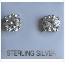 925 Sterling Silver With Nickel Free Settings Cubic Zirconia Stud Earrings