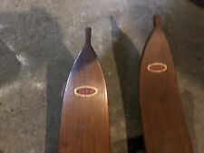 Vintage Wooden LUND Skis With Leather Bindings