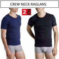 2 x MENS BONDS RAGLANS Navy Black 2XL Tshirt Tee Men's Authentic - Not in packet