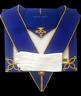 masonic regalia-CRAFT-CRAFT PROVINCIAL UNDRESS APRON AND COLLAR PACKAGE LAMBSKIN