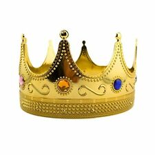 Regal Gold Plastic King Crown with Jewels Christmas 3 Wise Men Costume LOT