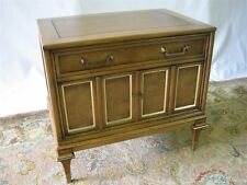 Vintage 1960's Mastercraft Nightstand/End Table; Walnut & Burl Veneers