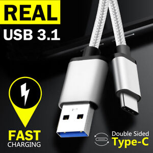TYPE-C USB-C Male Data FAST CHARGING Charger Cable for Samsung S9 S8 Plus Google