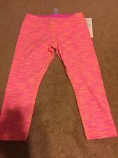 Ivivva Lululemon Rhythmic Crop Space Dye Pink Legging Kid 14 Women 2 4
