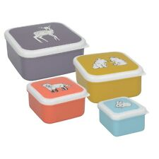 Creative Tops Into The Wild Little Explorer Set Of 4 Snack Tubs / Kids Snack Box