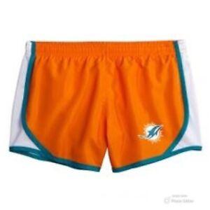NFL Team Apparel Girls Miami Dolphins Running Shorts Orange Size 16/18 NWT