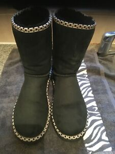 Black Suede  Ugg Boots Size 9.5