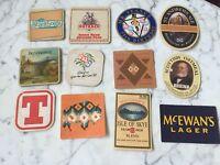Lot of 12 Vintage Drink Beer Coasters Advertising Alcohol 24333