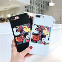 Cute Disney cartoon Mickey mouse Puzzle Soft case Cover for iPhone X 8 7 6S Plus
