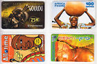 4 TELECARTE / PHONE CARD .. FRANCE PREPAYEE AFRIQUE AFRICA MIX DIFFERENTS A1