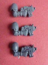Space Marine générique Power Armour 3 x RH Boulon pistolets-bits 40k