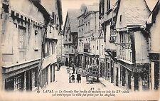 France postcard Laval La Grande Rue bordee de maisens en bois du XV siecle