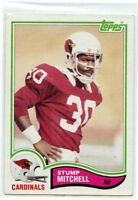 Stump Mitchell 1982 Topps ROOKIE CARD #472