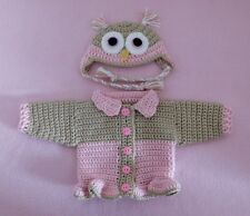 American Girl Sweater Doll Clothes Pink Owl Sweater Hat Fits American Girl 18""
