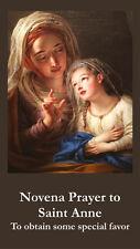 Novena to St. Anne Prayer Card (wallet size)
