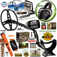 New Garrett AT Pro Metal Detector with MS-2 Headphones, Propointer AT, Digger+