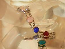 Glass Scarab Vintage 70's Timex Watch Needs Repair Very Beautiful Colors 108jl7
