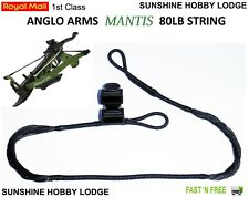 Crossbow String 80lb Pistol Xbow String & End Caps Fits Anglo Arms Mantis Bow