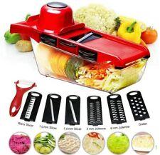 11 in 1 Mandolin Vegetable Food Slicer Julienne and Container - Peel Cut Slice