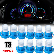 10x T3 Neo Wedge LED Bulb Cluster Instrument Dash Climate Base Lamp Light Blue
