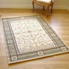 Large Murat Traditional Rug Cream Beige & Green1.2m X 1.7m 4' x 5'6 approx