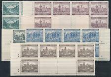 Böhmen + Mähren Bauwerke 1940** Stegpaare + Kreuzsternchen Michel 57-61 (S15483)