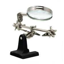 3rd Hand Jewelry Helping Hand Magnifier 5x With 2 Alligator Clamps Soldering Kit