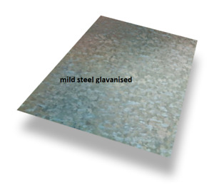 0.9mm Thick - GALVANISED MILD STEEL SHEET/PLATE - Numerous sizes - Free cutting