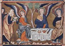 Ingeborg Psalter circa 1200 Postcard used VGC