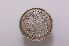 1916, Egypt (British Protectorate), Sultan Husayn Kamil. Silver 20 Piastres B32