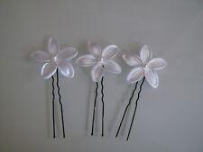 Lot 3 Pic/accessoire Cheveux chignon Mariée/Mariage Blanc/Blanche fleur pas cher