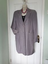 linen mix long lightweight coat size 14 by Dorothy Perkins in Heather